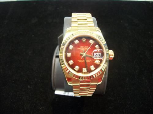 Rolex LADY Datejust 179178 GOLD RED VIGNETTE DIAMOND