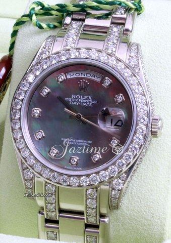 Rolex Masterpiece 18946 Platinum Mens Diamonds Mother of Pearl