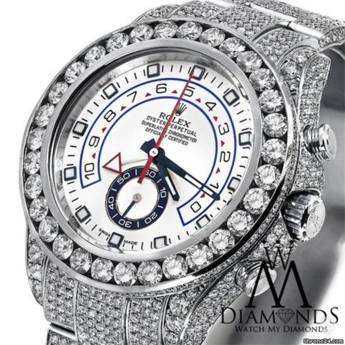 Rolex Men's Diamond Rolex Watch Yacht-master Ii 2