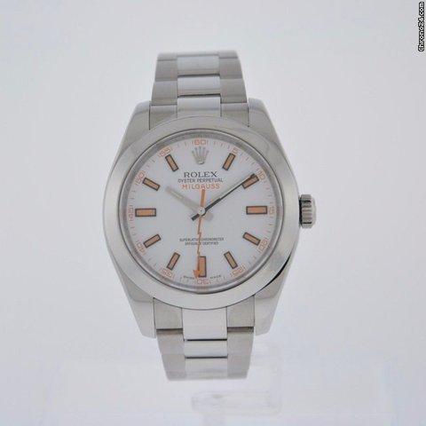 Rolex MILGAUSS WHITE DIAL 116400 - BOX WARRANTY CARD - 2 YR FELDMAR WARRANTY Price On Request