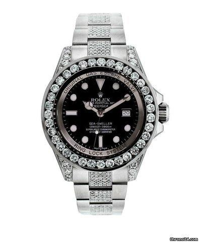 Rolex Official Rolex Watch Sea Dweller 116660 - Diamond Bezel, Lugs, And Bracelet