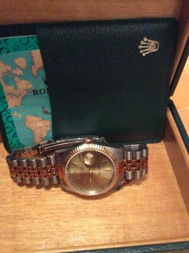 ROLEX Oyster Perpetual Datejust gold and ste