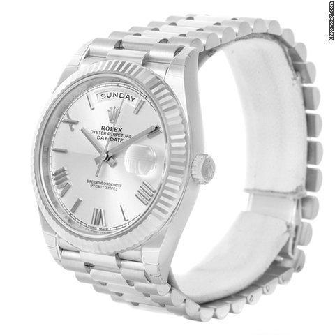 b43965c5c91 Rolex President Day-date 40mm Quadrant White Gold Watch 228239 ...