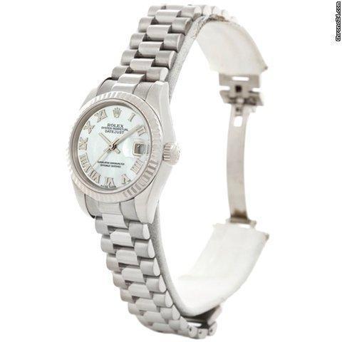 Rolex President Ladies 18k White Gold Watch 179179