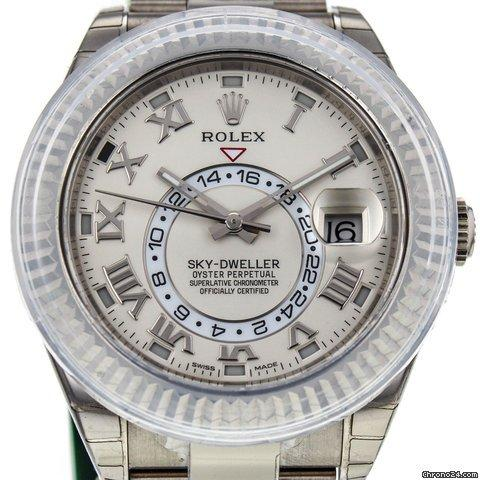 Rolex Sky-dweller 44mm 18k White Gold 326939 Watch Never Worn W Box And Papers