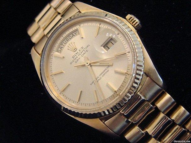 Rolex Solid 18k Gold Day Date President Champagne