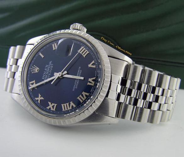594cfc4a86cd Rolex Stainless Steel Men s Datejust Watch Jubilee Bracelet Blue ...