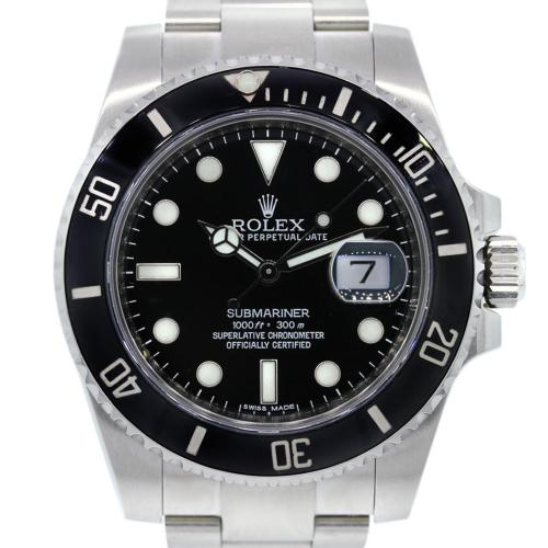 Rolex Submariner 16610 Black Ceramic Bezel Watch