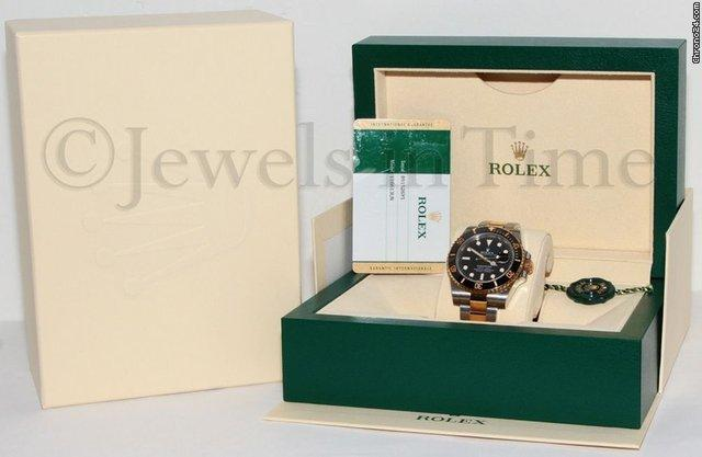 Rolex Submariner 18k Yellow Gold/Steel Black Ceramic