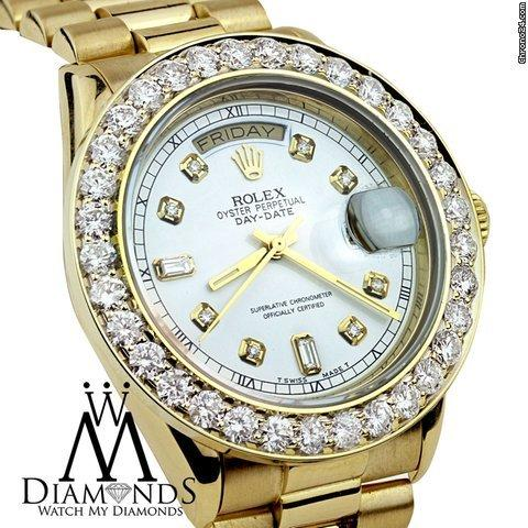 Rolex Watch My Diamonds Presents Rolex Day Date Presidential With Custom Diamond Bezel