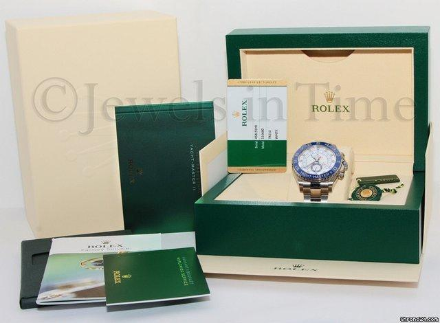 Rolex Yacht-Master II Steel Blue Ceramic Bezel Mens Watch 116680 BoxPapers
