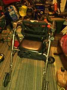 Rolling Walker with Seat! - $50