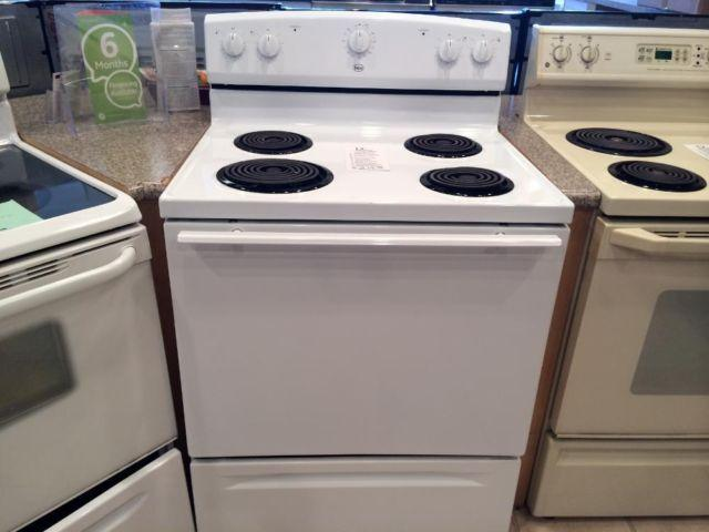Roper White Coil Burner Range Stove Oven Used For Sale