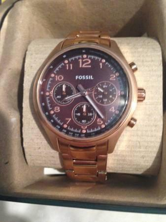 Rose Gold Fossil Watch, Brand New!! - $40
