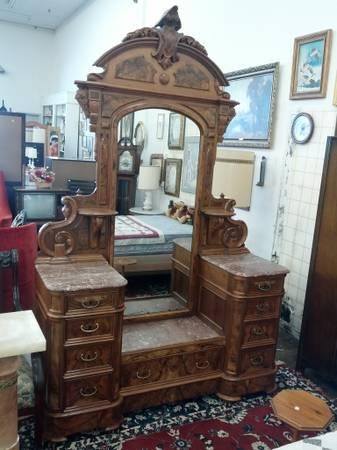 rose marble top victorian eastlake dresser for sale in reading rhode island classified. Black Bedroom Furniture Sets. Home Design Ideas