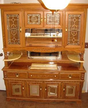 Rosewood China Cabinet With Cloud Lift Motif