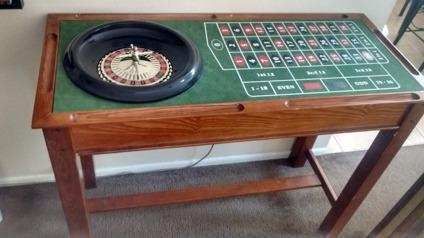 Roulette Wheel Craps Amp Blackjack Bar Table For Sale In