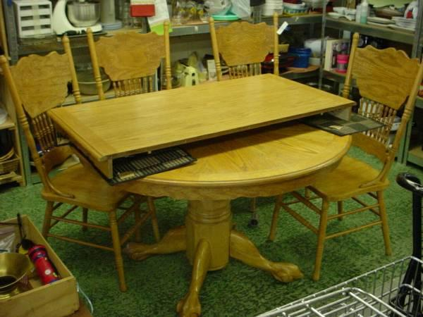 round oak table 4 chairs for sale in colorado springs colorado classified. Black Bedroom Furniture Sets. Home Design Ideas