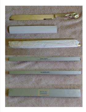 Royal Limited Silverplate Cake Knife NIB, weddings,