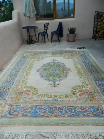 RUG - 8 X 10 - WOOL HAND-KNOTTED - CHINESE WOOL AUBUSSON - $800