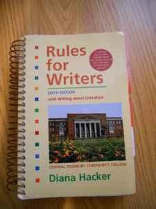 DIANA HACKER FOR RULES WRITERS