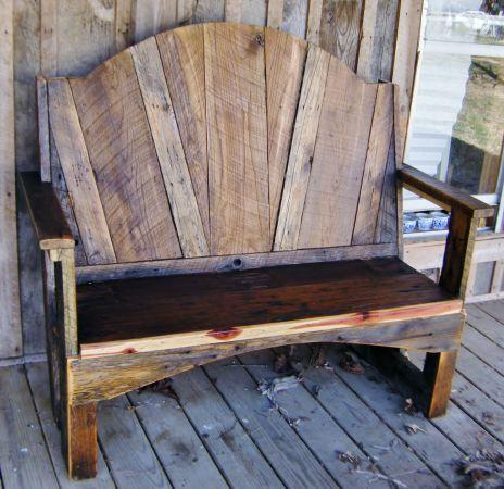 Rustic Barn Wood Bench Marshall County For