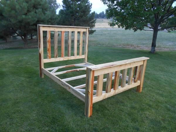rustic beetle kill pine queen bed frame for sale in aspen colorado classified. Black Bedroom Furniture Sets. Home Design Ideas