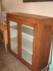 Rustic Cabinet for Kitchen or Bookcase, Glass Doors ...