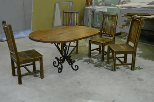Rustic Dining Set From The Arrangement Furniture Store For