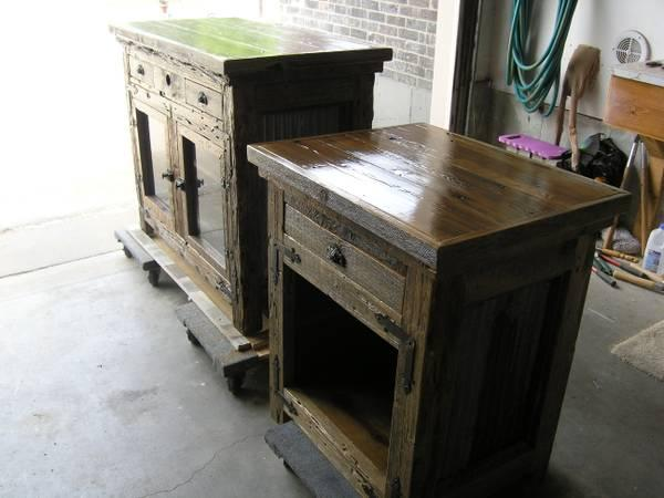 Rustic Entertainment Cabinet U0026 Side Table   $499