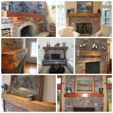 Rustic Fireplace Mantels, Recycled, Reclaimed Barn Wood