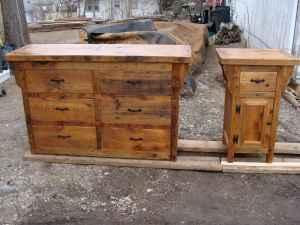 Rustic handmade custom barn wood furniture baraboo for Custom wood furniture for sale