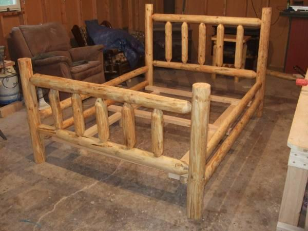Rustic Handmade Pine Log Beds For Sale In Saint Germain Wisconsin Classified Americanlisted Com
