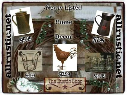 Rustic Home & Garden Decor, Clothing and More