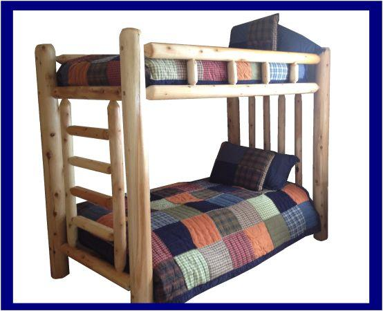 rustic log bed twin full queen king or bunk bed free shipping for sale in flagstaff. Black Bedroom Furniture Sets. Home Design Ideas