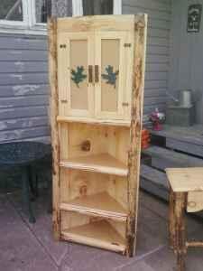 Rustic Log Corner Cabinet Watertown Harrisville For