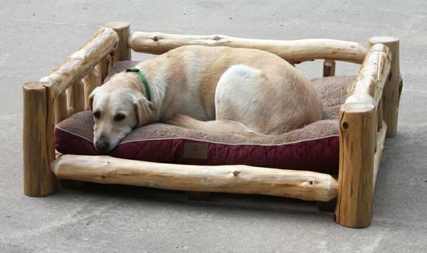 Rustic Log Dog Day Beds For Sale In Mesick Michigan
