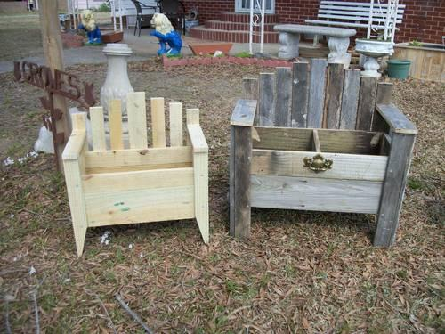 *RUSTIC U0026 TREATED* BENCH FLOWER BOXES