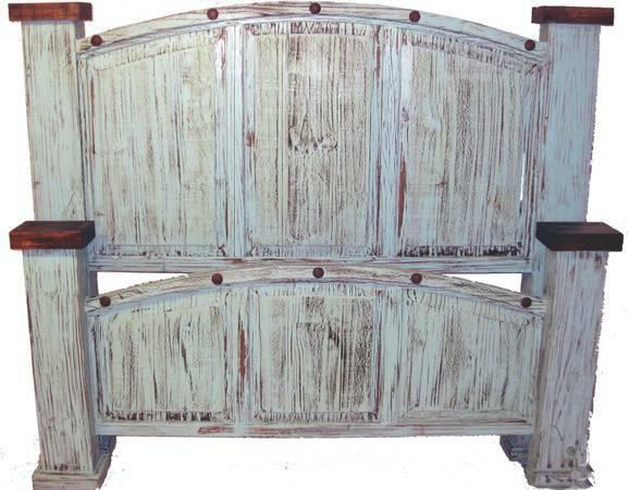 Rustic turquoise king bedroom suite for sale in connor - Rustic bedroom furniture for sale ...