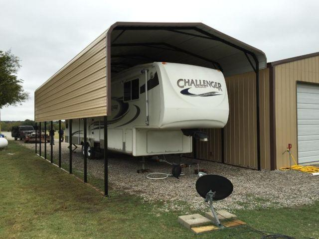 Rv covers rv garages rv shelters metal buildings for Big garages for sale