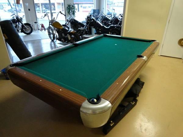S Wilhem 1942 8ft Drop Pocket Pool Table For Sale In