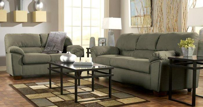 Sage Microfiber Sofa Set (Sofa/Loveseat)   (Win A FREE Bedroom Set From  Local Columbus Store) For Sale In Columbus, Ohio Classified |  AmericanListed.com