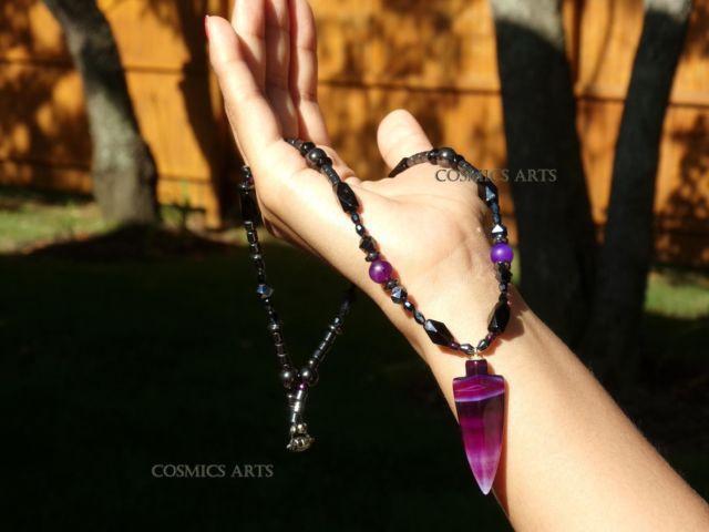 Sale, New Purple Arrow Hematite Necklaces (19