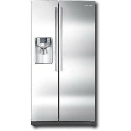 Sale Samsung 26 Cu. Ft. Side-by-Side Refrigerator RS261MDWP WHITE - $650