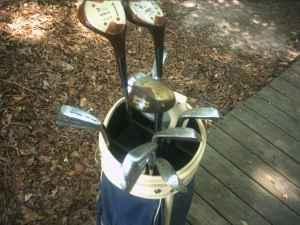 Sam Snead wilson blue ridge golf clubs with bag and balls - $40 Belton SC