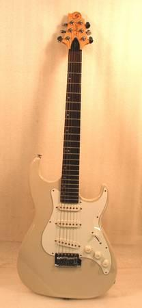 Samick Malibu MB-1PW Greg Bennett Design Cream Color Electric Guitar - $125