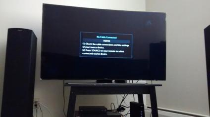 Samsung 4K UHD HU7250 Series Curved Smart TV - 55\u201d Class (54.6\u201d Diag
