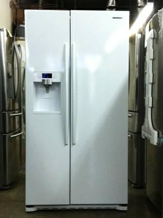 Samsung Counter Depth White Side X Side Refrigerator