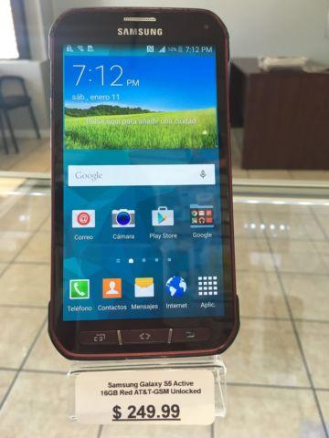 Samsung Galaxy S5 Active 16GB Red AT&T GSM Unlocked