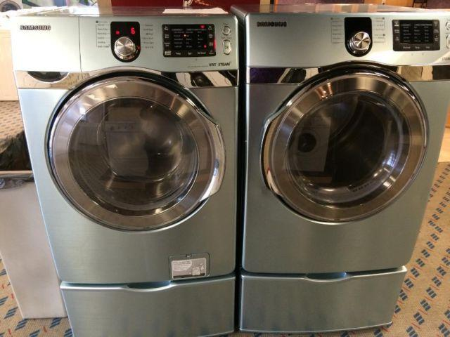 Samsung Green Front Load Washer Amp Dryer Set Pair Used